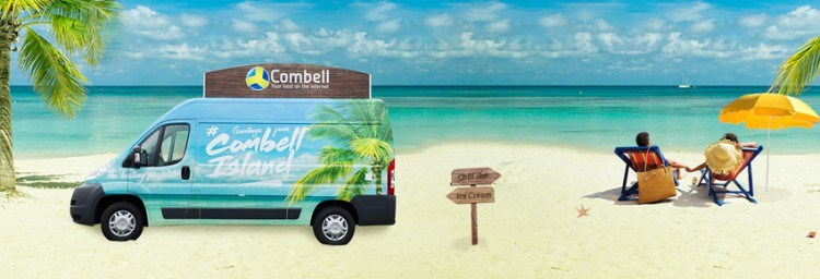 Combell Island ice cream car 2015