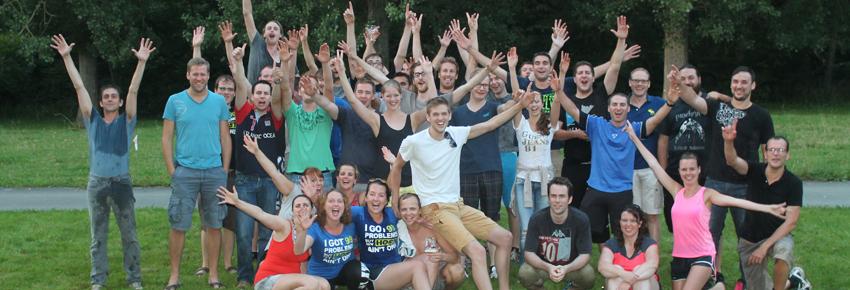 Combell teambuilding groepsfoto