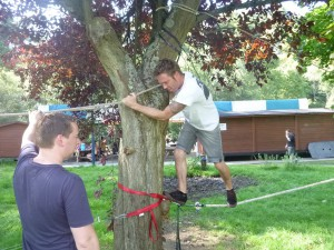 Combell teambuilding laagtouwenparcours