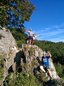 Combell teambuilding via ferrata