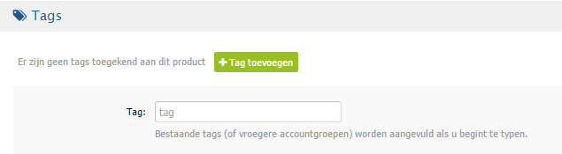Nieuwe reseller features - product tag toekennen