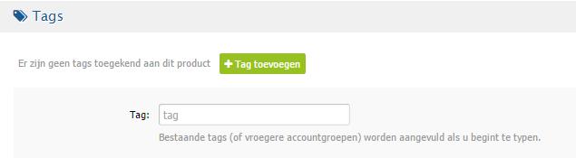 Nieuwe reseller features - product tag toekennen