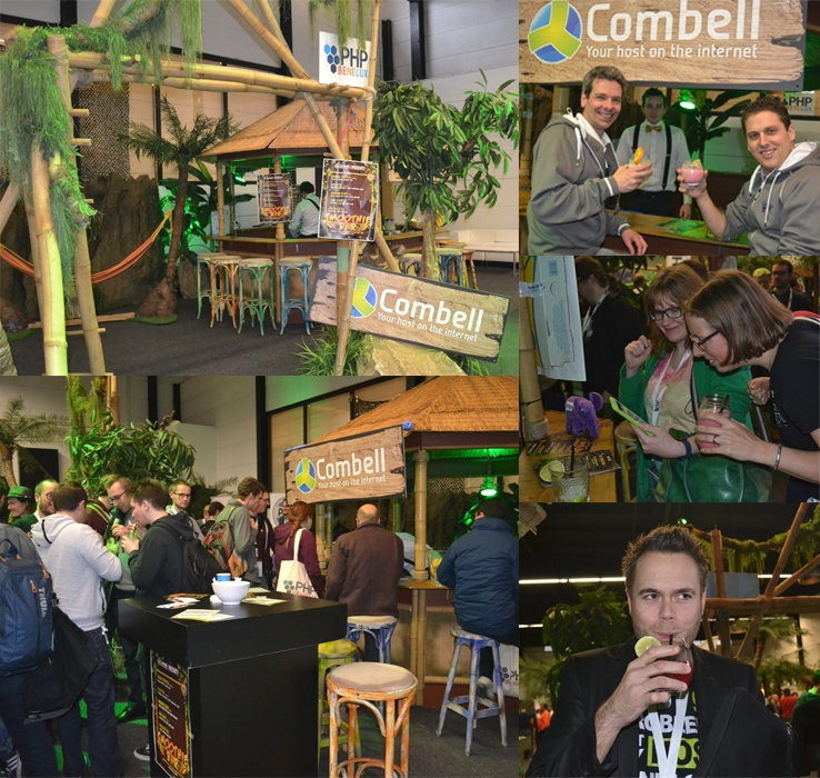 Sfeerbeeld smoothie bar Combell PHPBenelux Conference 2016