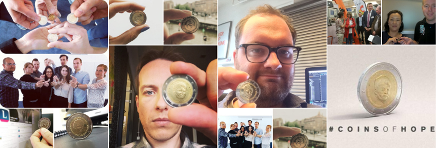 Combell ondersteunt Coins of Hope actie van Child Focus