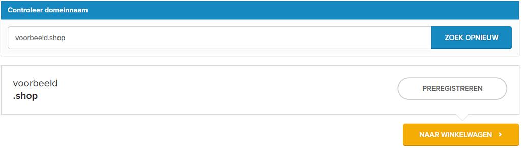 Nieuwe bestelervaring Combell - voorbeeld preregistratie