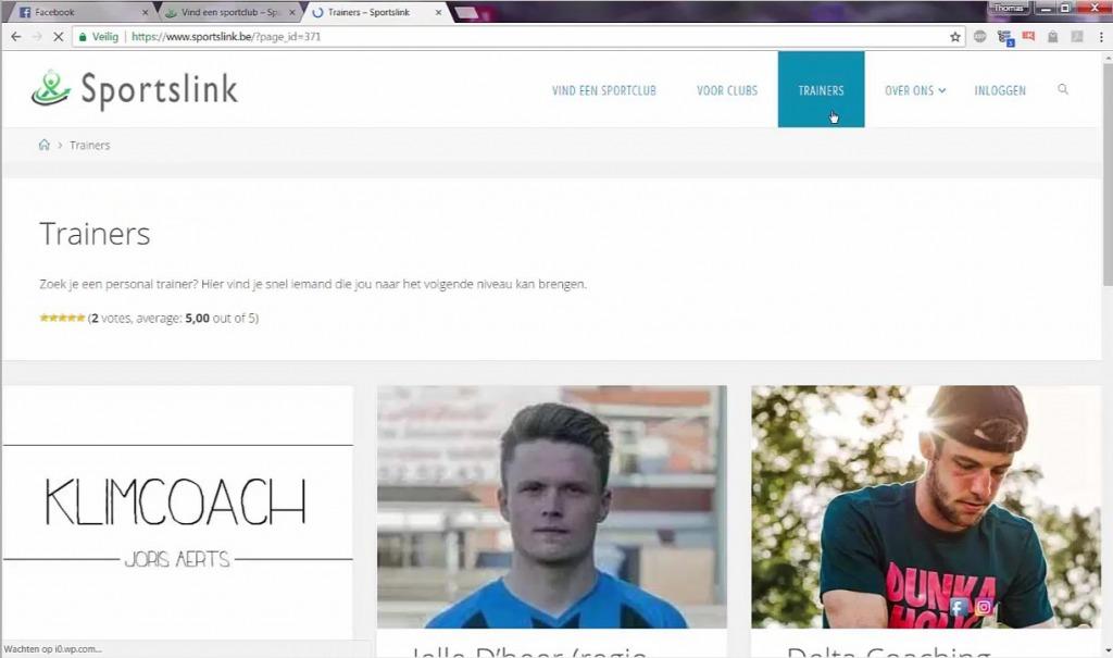 Sportslink platform zoekt personal trainer