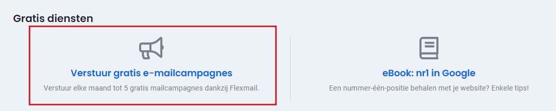 Gratis diensten controlepaneel e-mailcampagnes