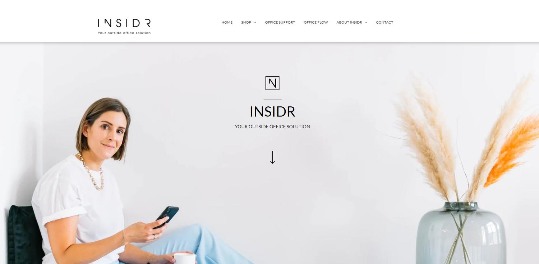 INSIDR webshop gebouwd in ShopBuilder