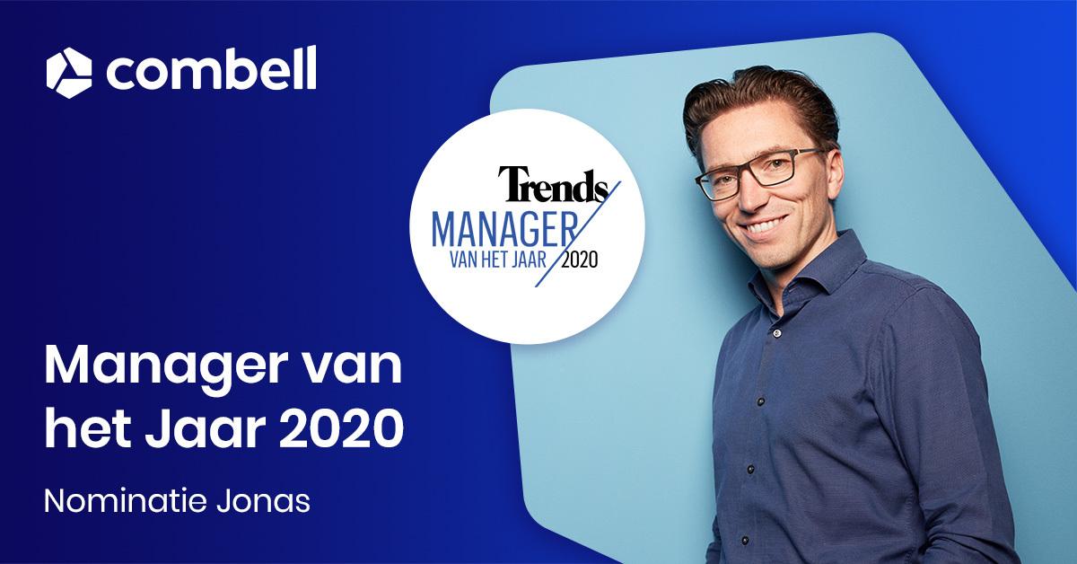 Jonas Dhaenens genomineerd voor Trends Manager van het Jaar 2020