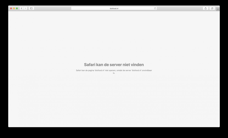 Kan server niet vinden voorbeeld