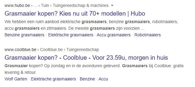 Organische SEO-resultaten in Google