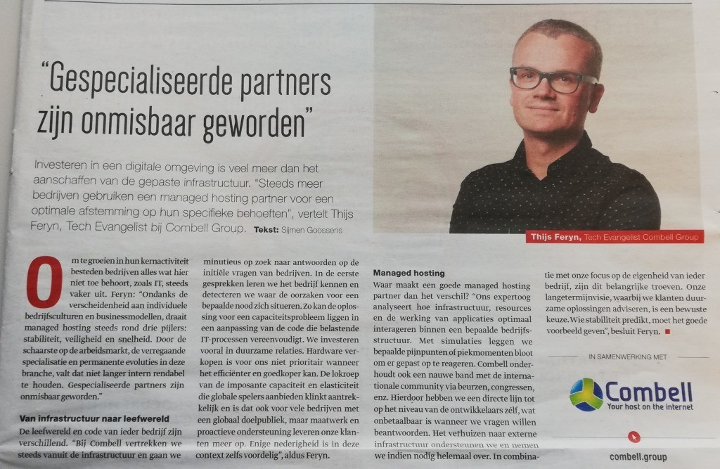 Thijs in dossier over IT-outsourcing