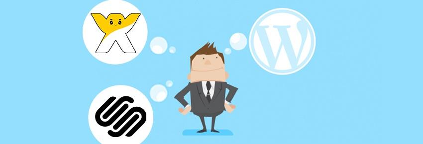 Wix, SquareSpace of WordPress