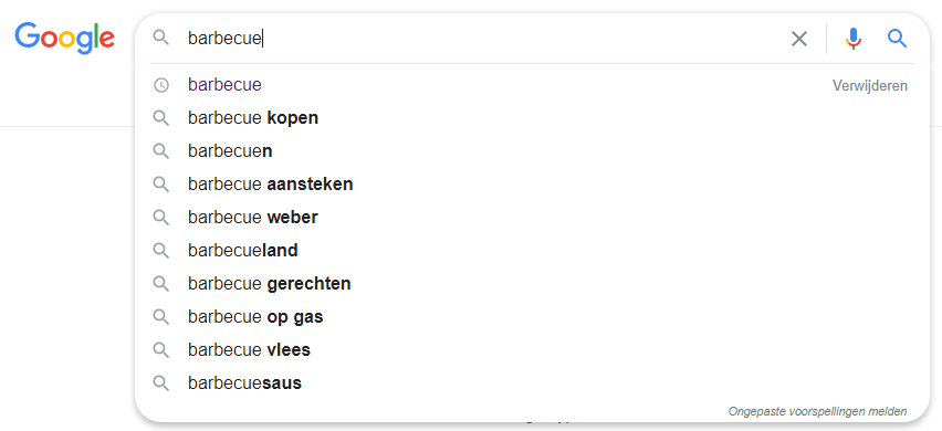 Zoekwoordenonderzoek - Google autocomplete