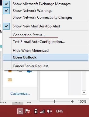 CTRL-toets ingedrukt houden terwijl je rechts klikt op het icoon in de systeembal