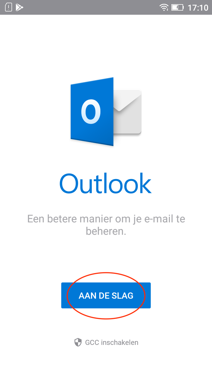 Open Outlook app