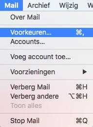 Mail > voorkeuren