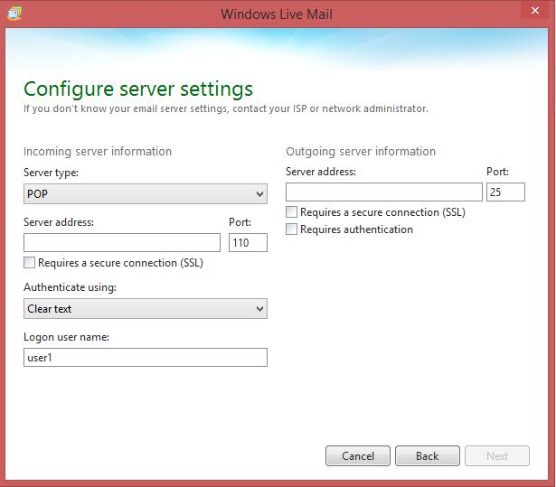 Configureer instellingen van uw server