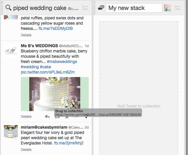versleep tweet naar Collections paneel