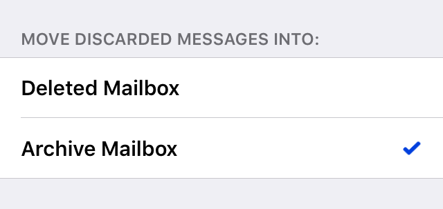Move discarded messages into