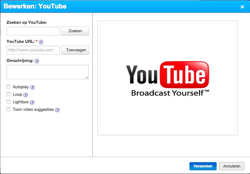 Bewerken YouTube