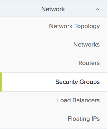 Network > Security groups