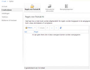 E-mail ordenen