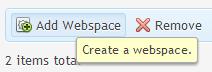 Webruimte toevoegen