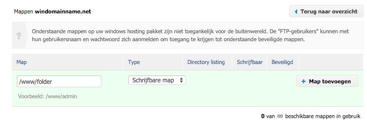 Map toevoegen