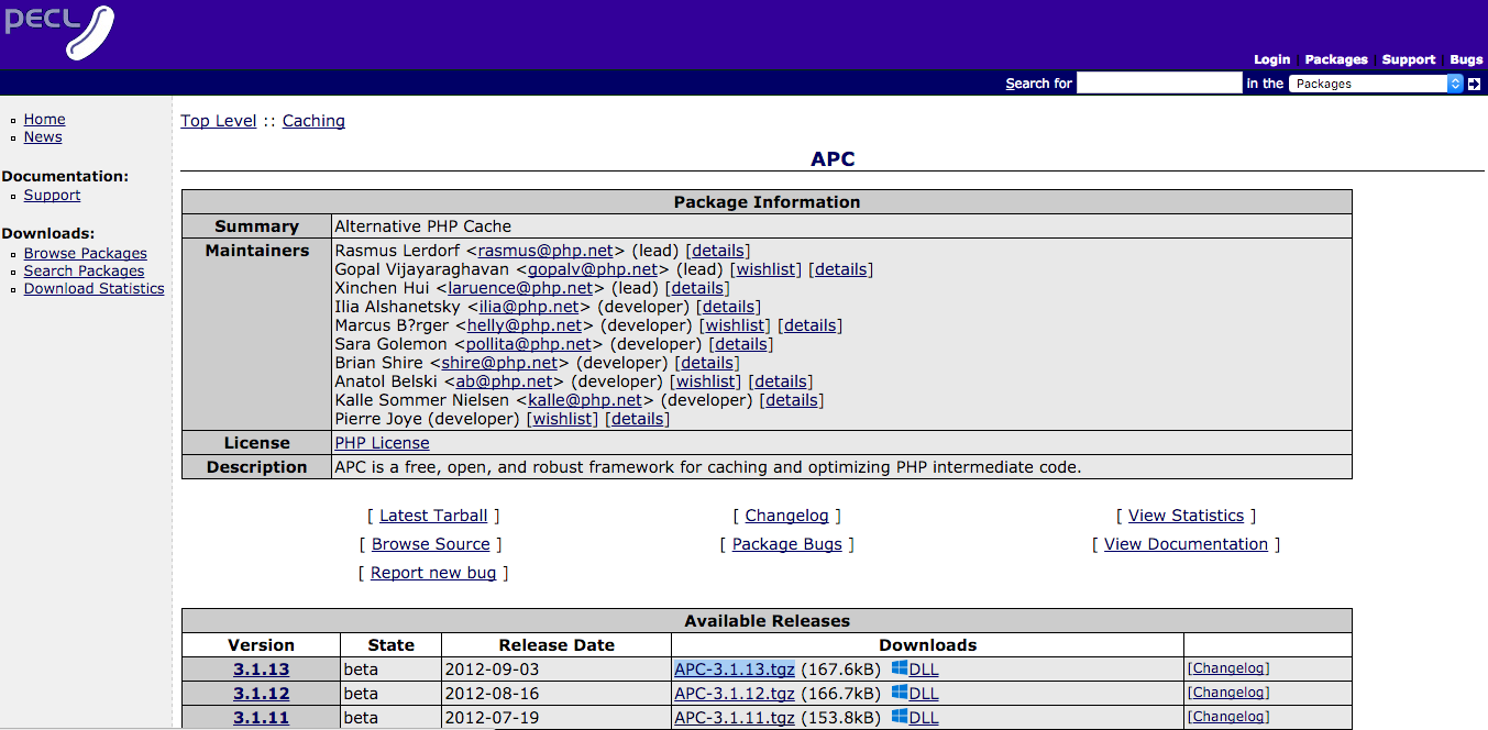 installatie van APC downloaden