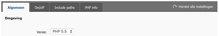 Overzicht > controleer PHP-versie