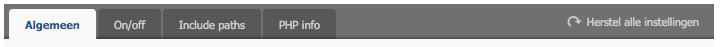 tabblad 'PHP'