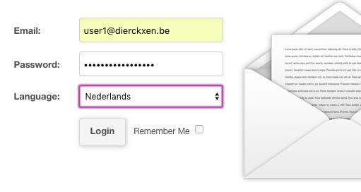 Log in op Webmail