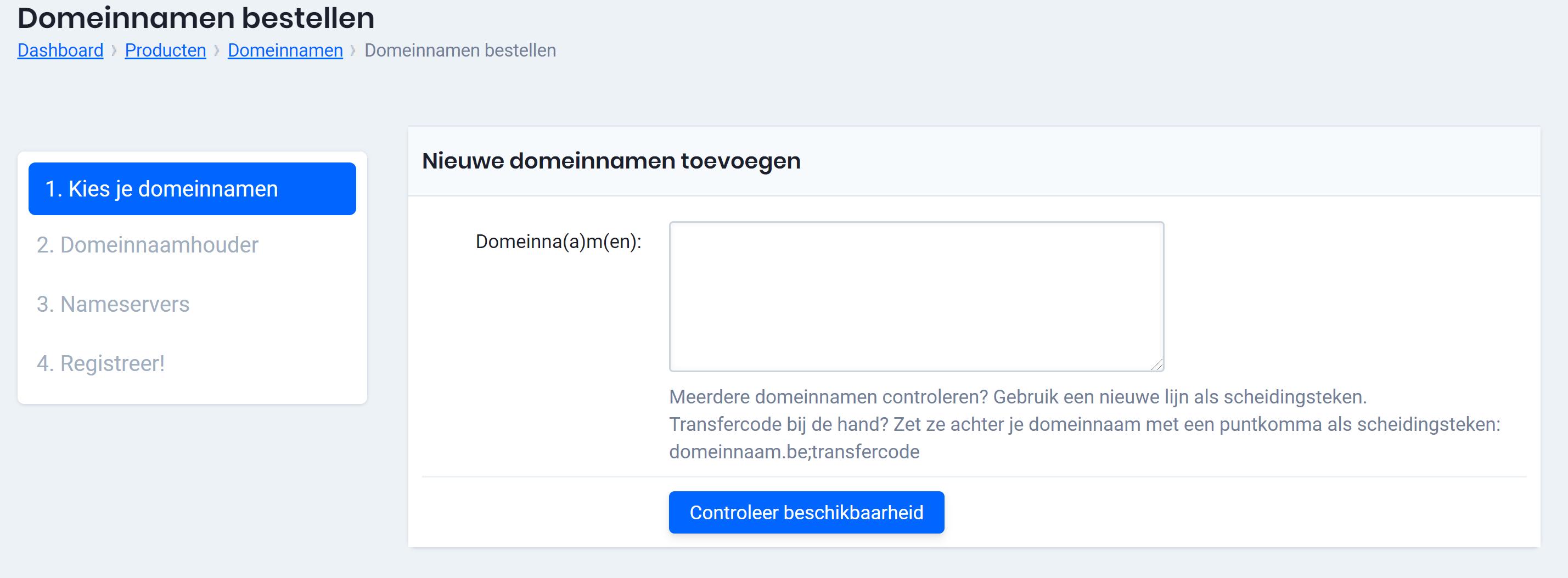 templates voor registratie domeinnaam